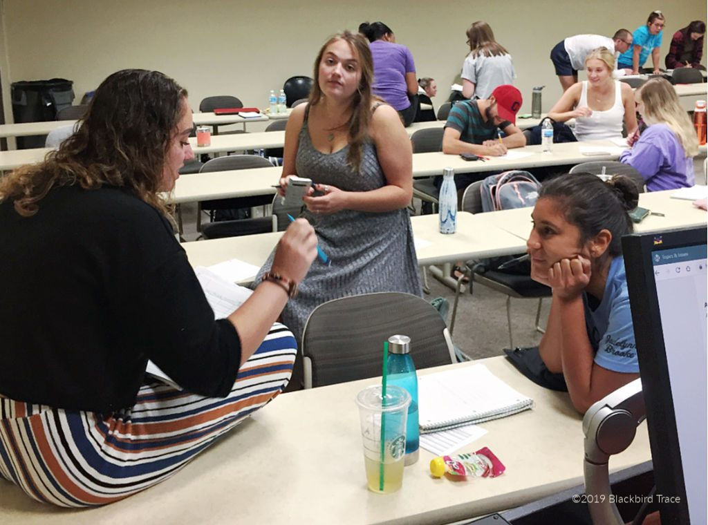 Students at Ohio University course Creative Strategies for Program Planning